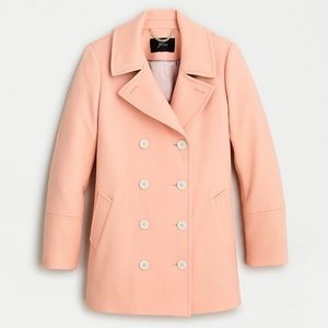 J. Crew Peacoat Double-Serge Wool Faded Guava